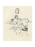 Girl Seated on a Bed Giclee Print by Walter Richard Sickert
