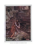 Christian and Hopeful in Doubting Castle Giclee Print by John Byam Liston Shaw