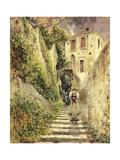 Alley Amalfi Giclee Print by Antonio Mancini