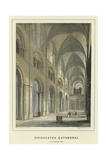 Chichester Cathedral, Nave Looking East Giclee Print by Hablot Knight Browne