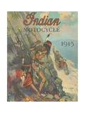 Advertisement for the Indian Motorcycle, 1915 Giclee Print