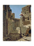 Ruins Along Country Road Giclee Print by Filippo Palizzi
