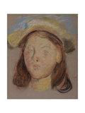 Head of a Girl Giclee Print by Edward Stott