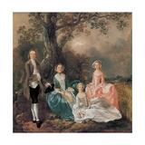 The Gravenor Family, 1754 Giclee Print by Thomas Gainsborough
