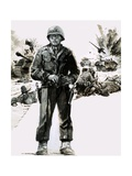 General George C. Patton Giclee Print by Graham Coton