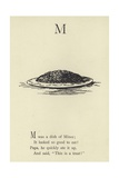 The Letter M Giclee Print by Edward Lear