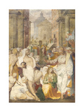 The Raising of Lazarus, 1538-40 Giclee Print by Perino Del Vaga