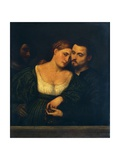 Venetian Lovers, 1525-1530 Giclee Print by Paris Bordone