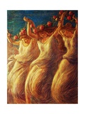 Dance of Rose, 1908 Giclee Print by Gaetano Previati