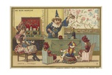 Au Bon Marche Cards Featuring Children's Games Giclee Print