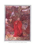 Christian and Hopeful Leave Atheist Laughing Giclee Print by John Byam Liston Shaw