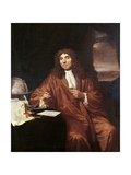 Antonie Van Leeuwenhoek, C.1680 Giclee Print by Jan Verkolje