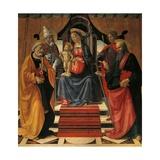 Holy Conversation Giclée-tryk af Domenico Ghirlandaio
