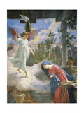 Annunciation, 1875, Fresco Giclee Print by Cesare Mariani