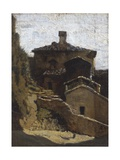 Houses in Lerici Giclee Print by Vincenzo Cabianca