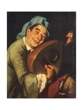 Mandola Player Giclée-tryk af Gaspare Traversi