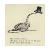 The Scroobious Snake Giclee Print by Edward Lear