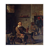 The Old Beer Drinker Giclee Print by David Teniers II