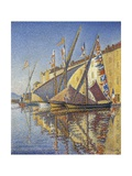 Port of Saint-Tropez, 1893 Gicleetryck av Paul Signac