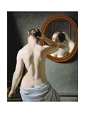 Naked in Mirror, by Johan Frederik Eckersberg Giclee Print