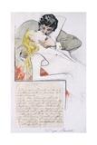 Kiss Giclee Print by Telemaco Signorini