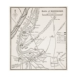 Plan of the Battle of Kandahar Giclee Print