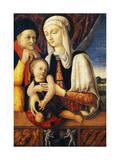 Holy Family, 1455 Giclée-Druck von Antonio Vivarini