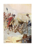 Clive Fired One of the Guns Himself Giclee Print by Joseph Ratcliffe Skelton