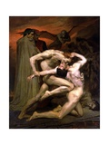 Dante and Virgil in Hell, 1850 Giclee Print by William Adolphe Bouguereau