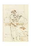 Girl Playing a Violin Giclee Print by Walter Richard Sickert