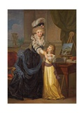 A Young Lady and a Little Girl, C.1785 Giclee Print by Marguerite Gerard