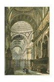 Interior of St Paul's Cathedral, London Giclee Print