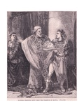 Dunstan Dragging Edwy from the Presence of Elgiva Giclee Print by Henry Marriott Paget