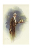 Waiter Carrying Drinks Giclee Print by Dudley Hardy
