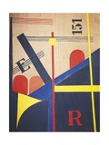 Proun 4 B, 1919-1920 Giclee Print by El Lissitzky