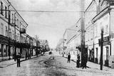 A Street in Minsk, 1897 Fotografisk tryk af  Russian Photographer