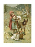 Little Red Riding Hood Giclee Print by John Lawson