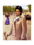 A Parisian Lady, 1893 Giclee Print by George Vaughan Curtis