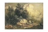 Wooded Landscape with Travellers, C.1777 Giclee Print by Thomas Gainsborough