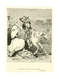 Don Quixote Attacked by the Bearer Giclee Print by Sir John Gilbert