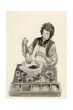 Michelangelo, as a an Apprentice, Mixing Paints Giclee Print by Peter Jackson