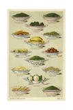 Dishes of Vegetables Giclee Print