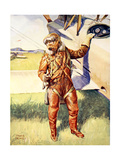 A Pilot Ready for a High Altitude Flight Giclee Print