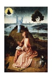 St John on Patmos, 1485 Giclee Print by Hieronymus Bosch