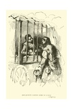 Don Quixote Carried Home in a Cage Giclee Print by Sir John Gilbert