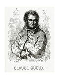 Portrait of Claude Gueux, 1834 Giclee Print by Paul Gavarni