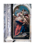St Matthew and the Angel, 1726 - 1730 Giclee Print by Giovanni Battista Pittoni
