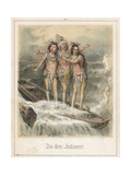 The Three Indians Giclee Print by Theodor Hosemann
