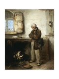 Old Man and Dog, Circa 1855 Giclee Print by Domenico Induno