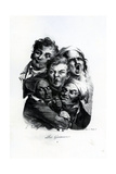 Les Grimaces, C.1823 Giclee Print by Louis Leopold Boilly